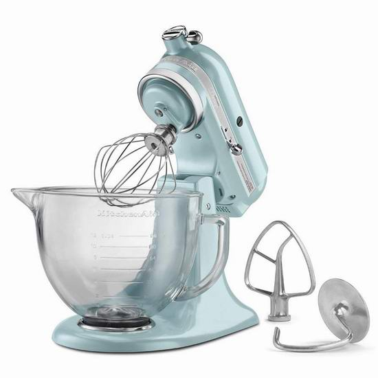 今日闪购:KitchenAid 厨宝 Artisan 名厨系列 KSM155GB 5夸脱多功能搅拌厨师机4.8折 314.1加元包邮!5色可选!