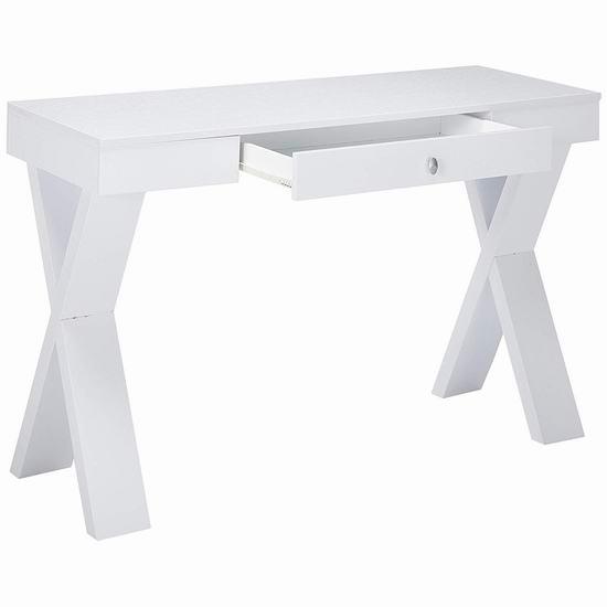 历史新低!Convenience Concepts Newport 带抽屉 白色书桌/电脑桌4.3折 98.99加元包邮!