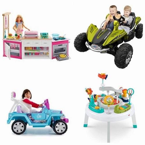 精选 Fisher-Price、Barbie、 Mattel等儿童品牌玩具、电动车 4.3折 6.67加元起优惠!