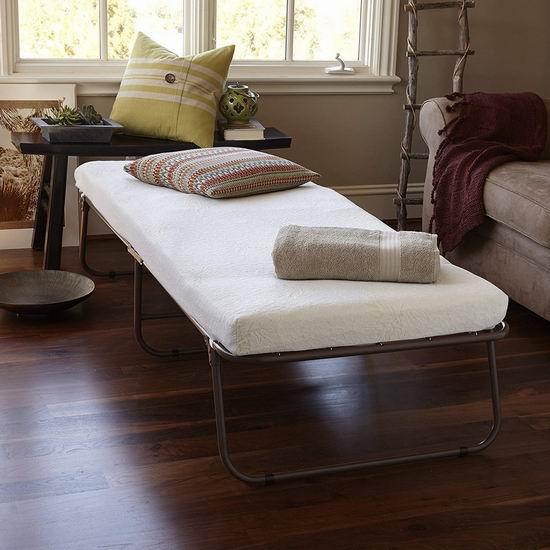 历史新低!Zinus Weekender Elite 可折叠单人床+床垫2.6折 130.17加元清仓并包邮!