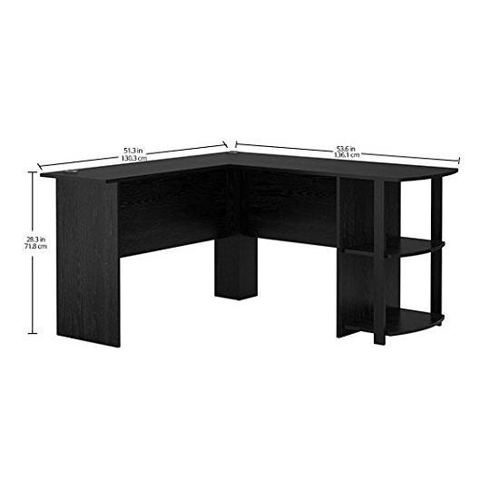 历史新低!AMERIWOOD Altra Furniture Dakota L型时尚书桌/办公桌5折 75加元包邮!会员专享!