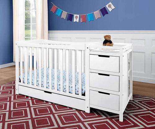 Graco Remi 四合一成长型婴儿床+收纳柜/换尿布台 359.99加元(2色),原价 518加元,包邮