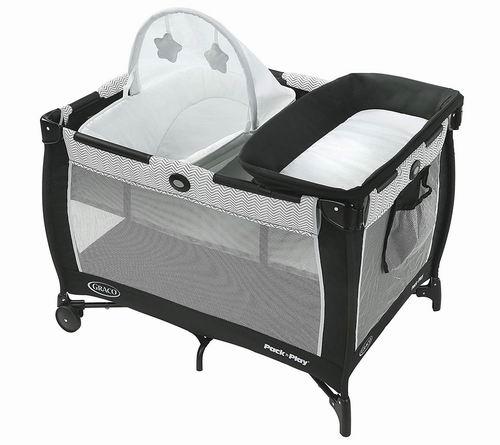 历史最低价!Graco Pack 'N 婴儿多功能豪华游戏床 127.49加元,原价 199.99加元,包邮