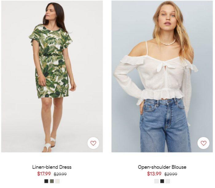 H&M夏日大促!精选成人儿童服饰、鞋靴、居家用品等3折起!