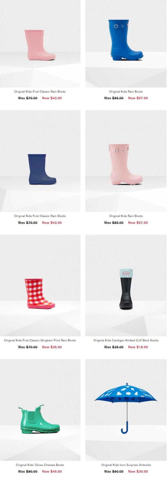 Hunter精选儿童保暖袜、雨鞋、雨衣 5折起特卖,折后低至 20加元!入迪士尼合作款!