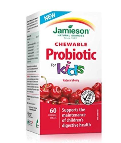 Jamieson 儿童樱桃味益生菌咀嚼片 10.44加元,原价 20.97加元