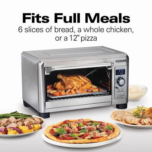 Hamilton Beach 31240  6片面包 不锈钢对流烤箱 139.99加元,原价 219.39加元,包邮