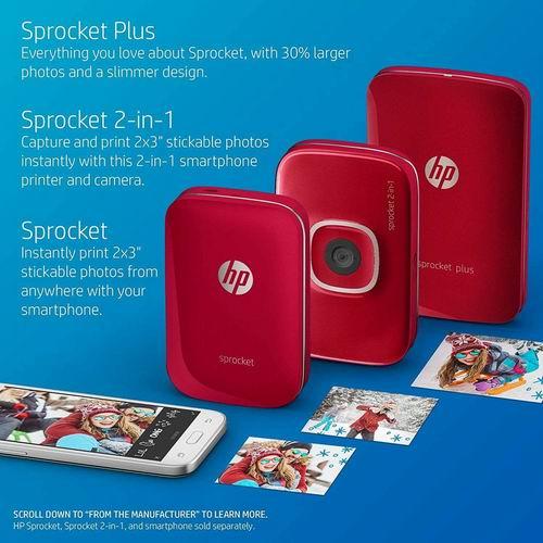HP Sprocket Plus便携式自拍伴侣 口袋照片打印机 99.99加元,原价 199.99加元,包邮