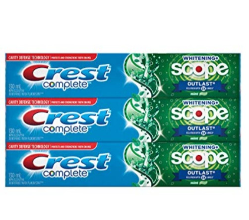 Crest 3D 佳洁士超效美白牙膏 130毫升× 3支 5.69加元,原价 8加元