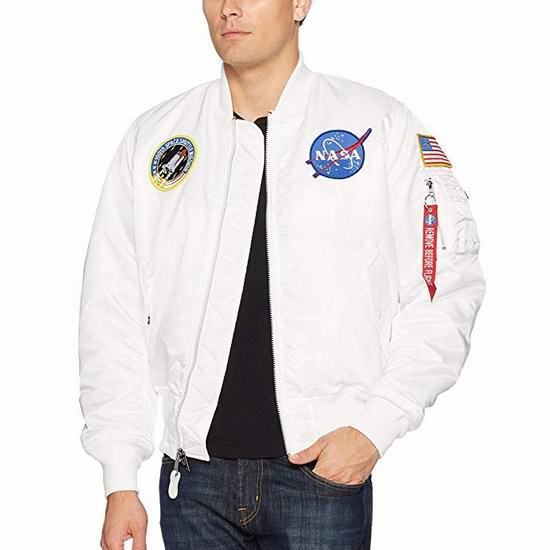 手慢无!Alpha Industries NASA Ma-1 美国太空总署 阿波罗飞行夹克(XS码、L码) 83.31加元起包邮!Farfetch同款456.79加元!