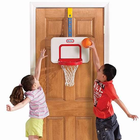 历史最低价!Little Tikes 小泰克 Attach n Play 门挂式 室内篮球框套装3.5折 17加元!