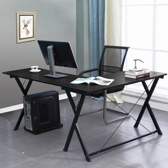DlandHome ZJ1-B L型时尚电脑桌/办公桌 102加元包邮!
