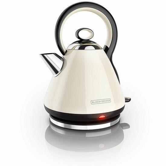 历史新低!Black & Decker KE2900CRC 高颜值 不锈钢复古电热水壶5.6折 30加元!