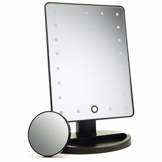 Absolutely Luvly 21 LED照明 10倍放大化妆镜 14.96加元限量特卖!