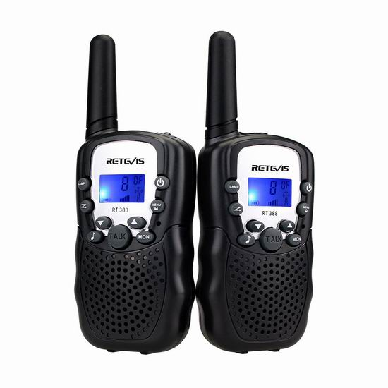 Retevis RT-388 儿童远距离无线手台对讲机 12.99加元!