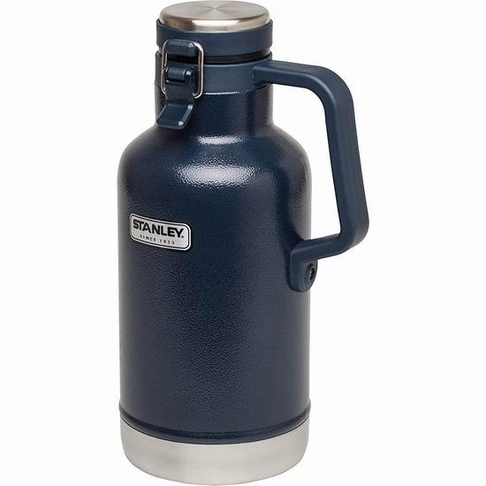 近史低价!Stanley 史丹利 Classic Growler 2夸脱大容量 超强保温 不锈钢真空保温杯6折 39.99加元包邮!