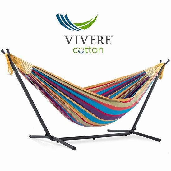 销量冠军!Vivere UHSDO9-20 双人吊床+金属支架套装5.9折 119加元包邮!