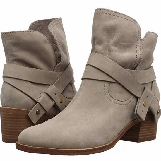 白菜价!UGG Elora 女式真皮踝靴(6.5码)2.3折 51.38加元包邮!