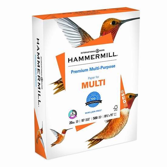 历史新低!Hammermill 20磅 高级复印打印纸500页 4.97加元!