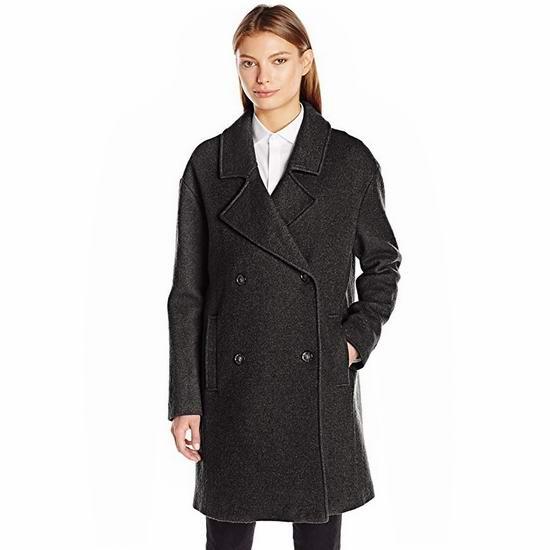 超级白菜!Tommy Hilfiger Oversized 女士羊毛混纺大衣(L码)1.5折 36.22加元包邮!