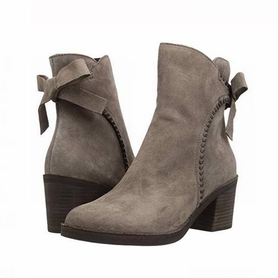 白菜价!UGG Fraise Whipstitch 女式真皮粗跟短靴(7.5码)2.5折 55.79加元包邮!