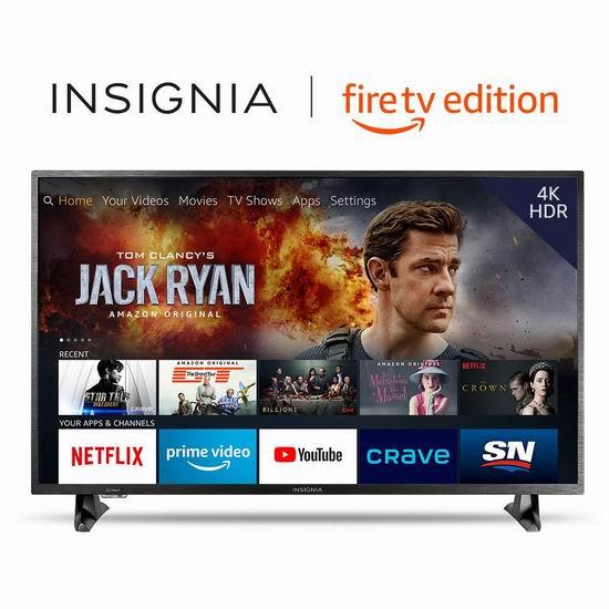 历史最低价!Insignia 43英寸 4K超高清 Fire TV版智能电视 329.99加元包邮!