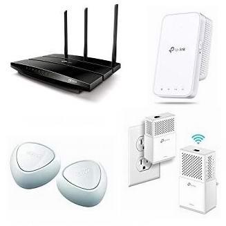 金盒头条:精选 TP-Link、NETGEAR、D-Link 品牌无线路由器、智能多路由Wi-Fi系统、WiFi信号延伸器、电力猫、智能漏水探测器、交换机5.3折起!