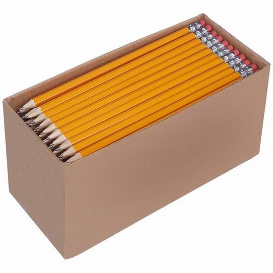 销量冠军!AmazonBasics #2 HB 预削铅笔150支装 11.95加元!
