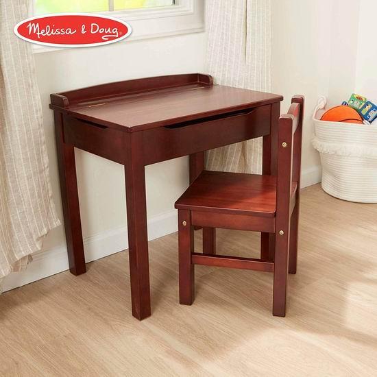 历史新低!Melissa & Doug Lift-Top 儿童书桌+椅子套装 97.46加元包邮!