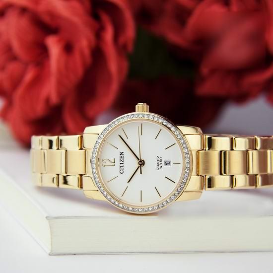白菜价!历史新低!Citizen 西铁城 EU6032-85A 施华洛世奇水晶 女式腕表/手表3.3折 64.22加元包邮!