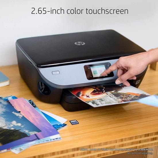 历史新低!HP 惠普 Envy Photo 7155 无线多功能一体式彩色喷墨打印机 74.99加元包邮!