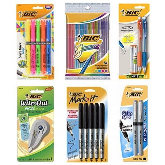 金盒头条:精选 BIC 马克笔、签字笔、原子笔、修正带、修正液、笔芯等6折起!低至7.4加元!