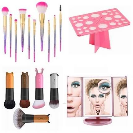金盒头条:精选 Docolor 化妆镜、化妆刷及收纳架11.9加元起!