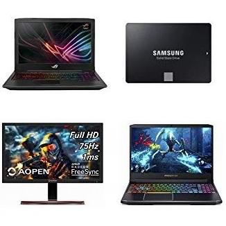 金盒头条:精选 Asus、Acer、Razer、Toshiba 等品牌游戏笔记本电脑、固态硬盘、硬盘、显示器、游戏键盘鼠标、游戏耳机等6.1折起!