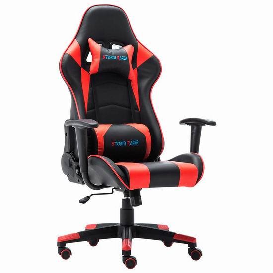 Storm Racer 人体工学 高靠背赛车办公椅/游戏椅 125.99加元限量特卖并包邮!2色可选!