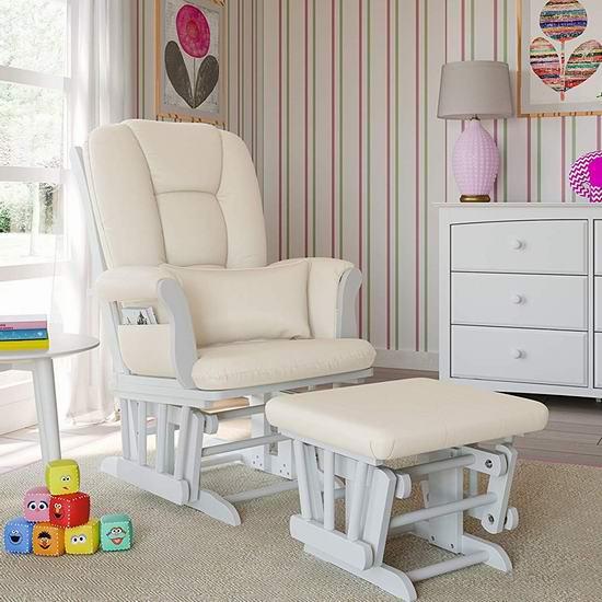 Storkcraft Custom Tuscany 实木哺乳椅/育婴椅/软垫躺椅5.9折 189.99加元包邮!