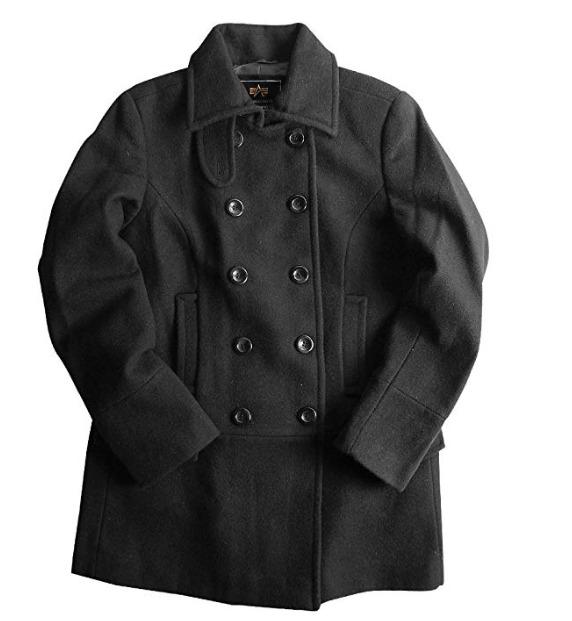 白菜价!Alpha Industries Olivia 羊毛混纺大衣 34.98加元(XL)