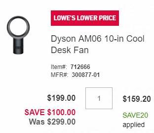 Bug速抢!Dyson 戴森 无叶风扇、无叶空气净化风扇、无叶加湿风扇6.6折起+额外8折!低至5.3折 159.2加元!
