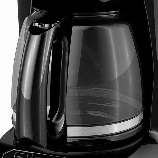历史新低!BLACK+DECKER CM1105BC 12杯量可编程咖啡机 19.99加元!