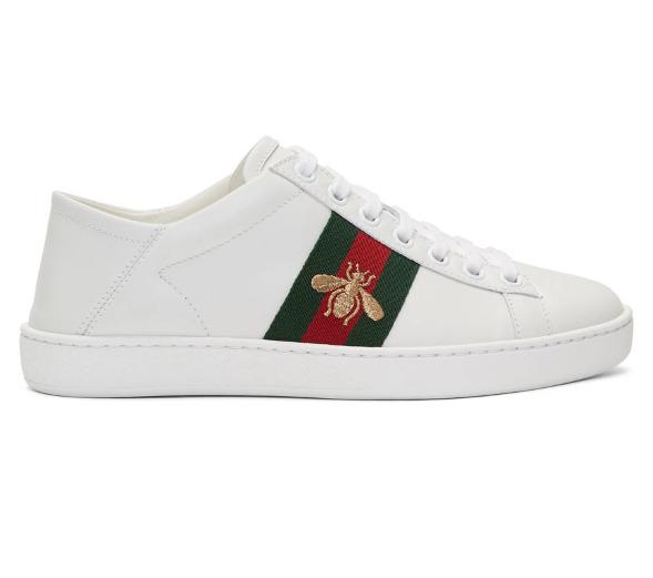 Gucci 小蜜蜂小白鞋/穆勒鞋 595加元,原价 740加元,包邮