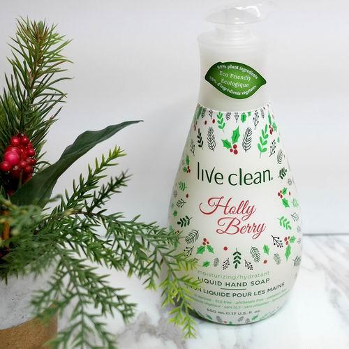 Live Clean Holiday保湿洗手液 500毫升 3.97加元,原价 10.02加元