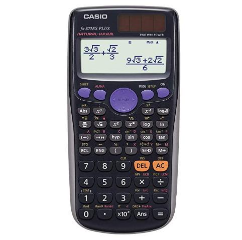 Casio FX300ES Plus-BU太阳能计算器 11.99加元!