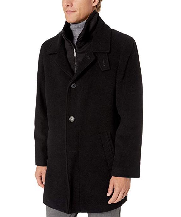 Calvin Klein Coleman男士羊毛混纺大衣 72.99加元(48),原价 207.99加元,包邮