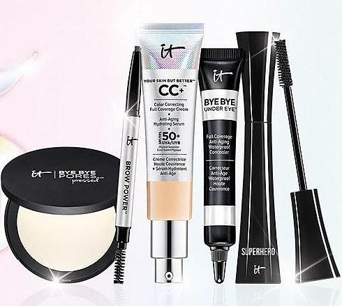 it Cosmetics劳动节特惠:满75加元享受8.5折!入CC霜、眼部遮瑕、化妆刷!