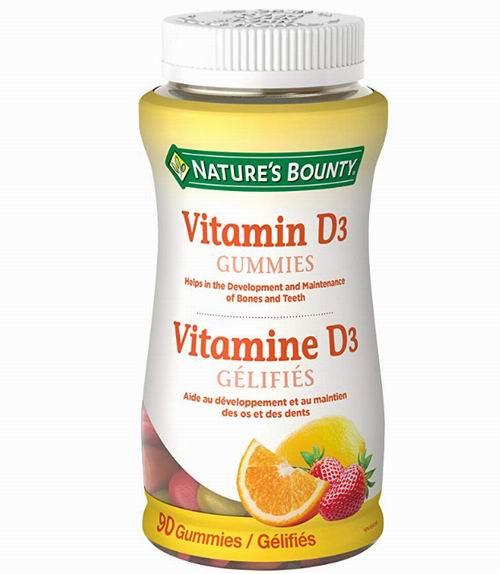 Nature's Bounty 水果味 维生素D3软糖 7.1加元,原价 9.37加元