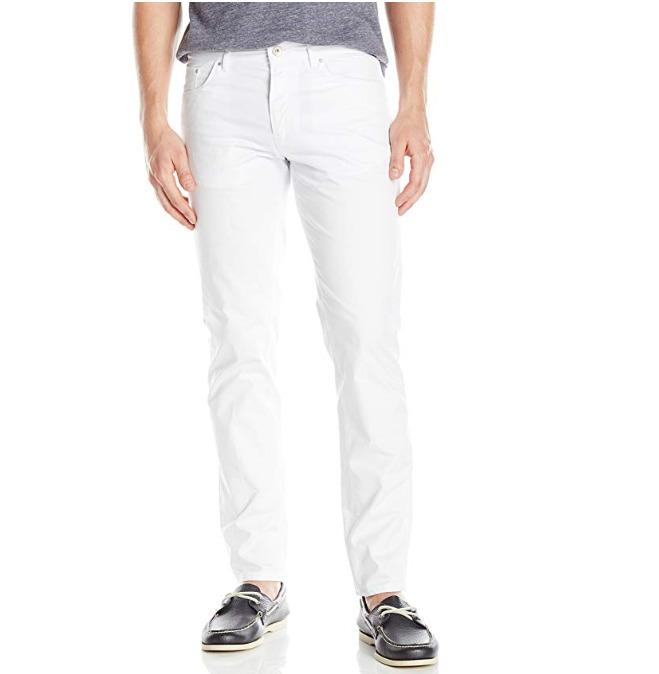 Calvin Klein Slim Fit 5男士白色裤装 20.09加元(30w×30L),原价 43.23加元