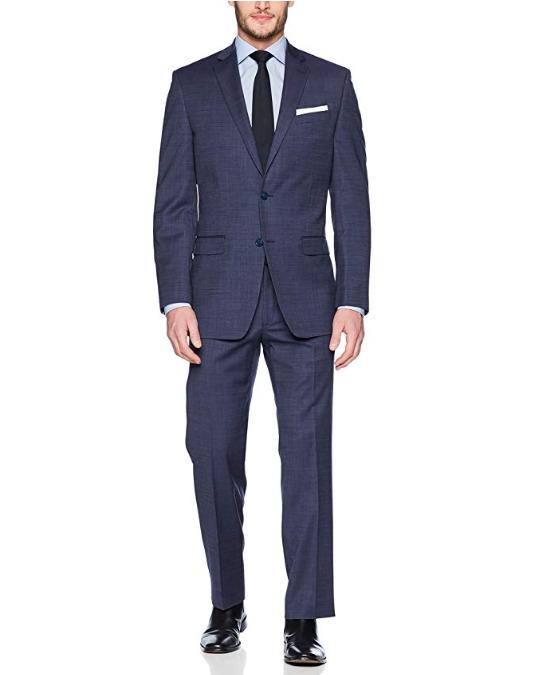 Calvin Klein Malik羊毛西装套装 120.01加元(44long),原价 366.79加元,包邮