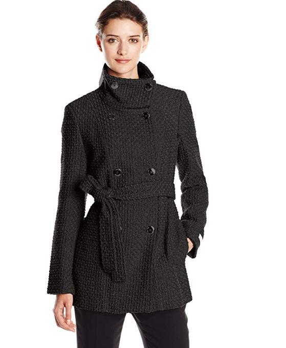 Calvin Klein 双排扣羊毛混纺大衣 39.64加元(L),原价 168.99加元,包邮