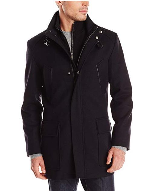 Cole Haan Modern Twill男士羊毛混纺大衣 118.79加元(L码),原价 489.87加元,包邮