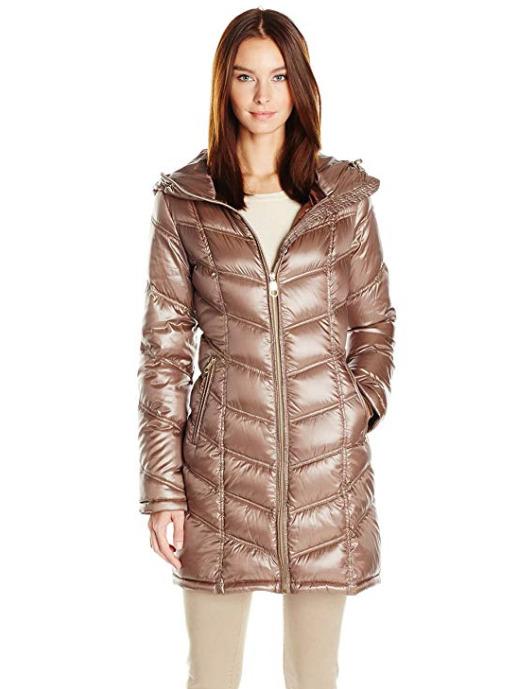 Calvin Klein Mid-Length 女款中长修身羽绒服 44.48加元(xxs),原价 153.97加元,包邮